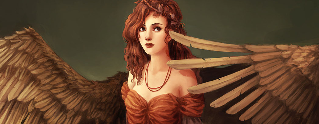 fantasy-art-girl-wings-angel-dress-face-eyes-eyes-hair-red-hair-curls